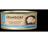 Grandorf Cat - куриная грудка и креветки 70г