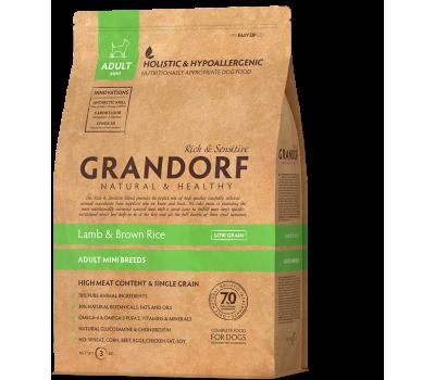 Купить корм Grandorf Sensitive Care Holistic Lamb & Brown Rice Mini (ягненок с бурым рисом для мини пород собак с 1 года) 3кг