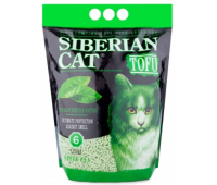Наполнитель Сибирская кошка Тофу Зеленый Чай - биоразлагаемый комкующийся (6л)