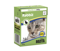 Bozita консервы - кусочки кролика в желе для кошек (370г)