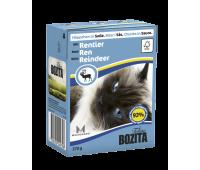 Bozita консервы - кусочки мяса оленя для кошек (370г)