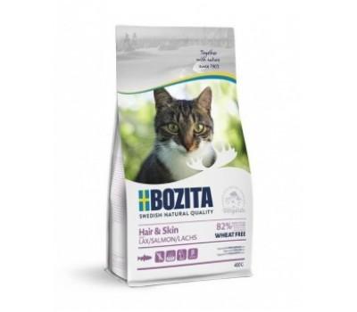 Купить корм BOZITA WF Hair & Skin SALMON - с лососем без пшеницы для кошек (400г)