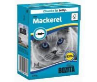 BOZITA консервы - скумбрия в желе для кошек (370г)