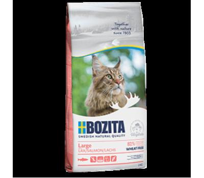 Купить корм BOZITA WF Hair & Skin SALMON Large - с лососем без пшеницы для кошек крупных пород  (2кг)