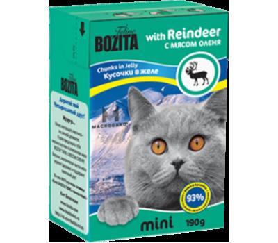 Купить Bozita консервы - кусочки мяса оленя для кошек (190г)