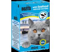 Bozita консервы - морской коктейль для кошек (190г)
