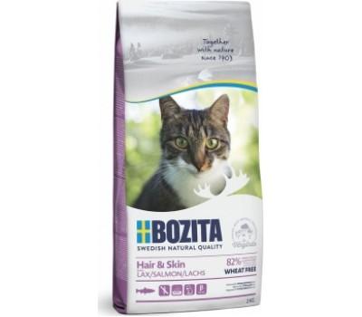 Купить корм BOZITA WF Hair & Skin SALMON - с лососем без пшеницы для кошек (2кг)