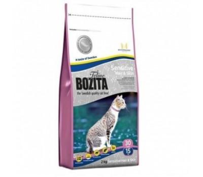 Купить корм BOZITA Funktion Sensitive Hair & Skin - для красивой кожи и шерсти у кошек (2кг)