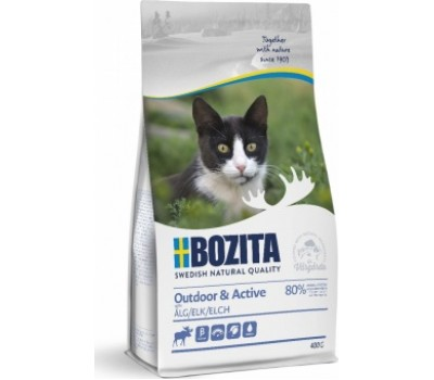 Купить корм BOZITA Outdoor & Active - с мясом лося для растущих и активных кошек (400г)