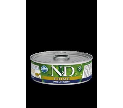 Купить корм Farmina N&D PRIME Lamb&Blueberry Консервы - с ягненком и черникой для кошек (85г)