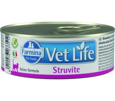 Купить корм Farmina VetLife Struvite Консервы паштет - при струвитах у кошек (85г)