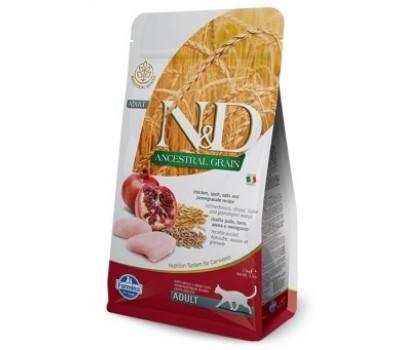 Купить корм Farmina N&D ANCESTRAL GRAIN Neutered - с курицей и гранатом низкозерновой для стерилизованных кошек (10кг)