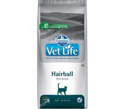 Купить корм Farmina VetLife Hairball - для выведения шерсти у кошек (400г)