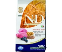 Farmina N&D LowGrain Lamb&Blueberry 300г низкозерновой с ягненком и черникой для взрослых кошек