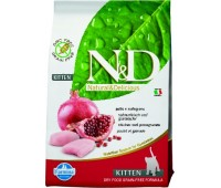 Farmina N&D Chicken&Pomegranate - для котят 1.5кг беззерновой с курицей и гранатом