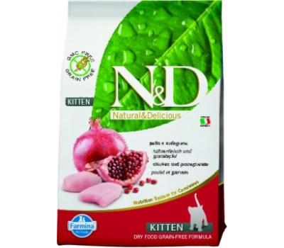 Купить корм Farmina N&D Chicken&Pomegranate - беззерновой с курицей и гранатом для котят (1.5кг)