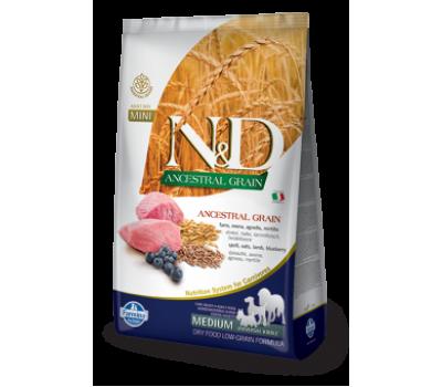 Купить корм Farmina N&D ANCESTRAL GRAIN - низкозерновой с ягненком, спельтой, овсом, черникой для собак (12кг)