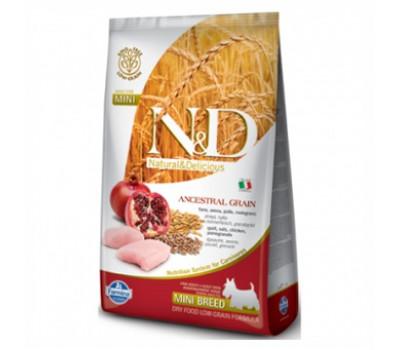 Купить корм Farmina N&D LowGrain - низкозерновой с курицей и гранатом для собак мелких пород (800г)