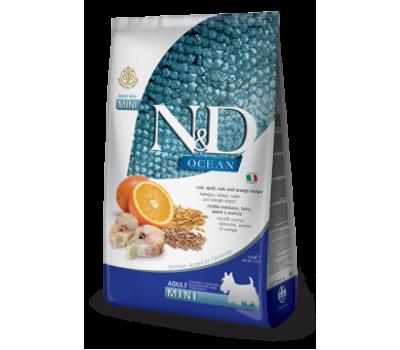 Купить корм Farmina N&D OCEAN ADULT MINI Fish&Orange - треска, апельсин для собак мелких пород  (800г)