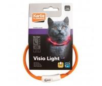 Ошейник Flamingo для кошек Светящ LED 35см (c USB зарядкой)
