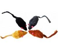 Мышь-погремушка натуральный кроличий мех 6,25 см