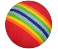 Мяч поролон 3 см радуга