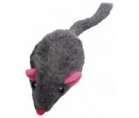 Мышь-погремушка из натурального кроличьего мех, 5 см