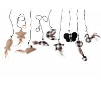 Karlie-Flamingo Twinies Ассорти Catnip на веревке 11см