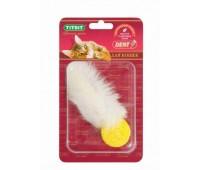 TiTBiT Toys для кошек хвост кроличий с шариком Б2-L