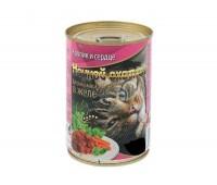 Ночной Охотник консервы 415г с кроликом, сердцем в желе для кошек