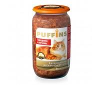 Puffins для кошек Говядина и печень стекло