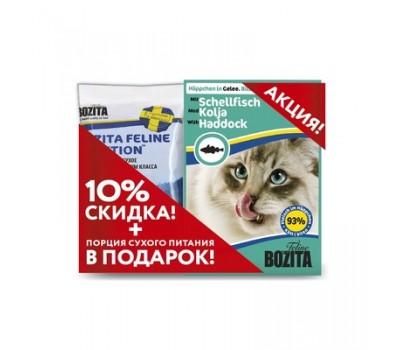 Купить BOZITA Набор (Консервы 370г + 70г корма) с морской рыбой для кошек