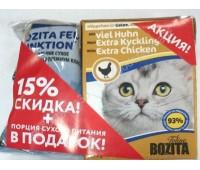 BOZITA Набор (Консервы 370г + 70г корма) с курицей для кошек
