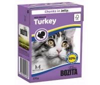 Bozita консервы 370г кусочки индейки для кошек