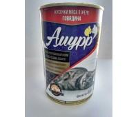 АМУРР консервы 400г говядина в желе для кошек
