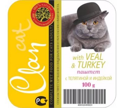 Купить Clan cat 100г паштет Телятина с Индейкой