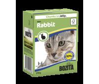 Bozita консервы 370г кусочки кролика в желе для кошек