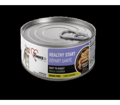 Купить 1stChoice консервы 85г КОТЯТА Здоровый Старт курица в масле тунца