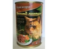 Ночной Охотник консервы 415г мясное ассорти в желе для кошек