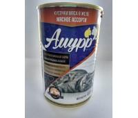 АМУРР консервы 400г мясное ассорти в желе для кошек