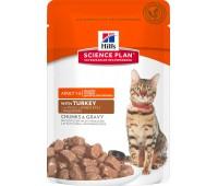 HILL'S Science Plan для кошек с индейкой пауч 85г