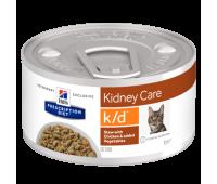 HILL'S PD k/d Kidney Care консервы кошек рагу с курицей при заболеваниях почек 85 г