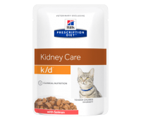 HILL'S PD k/d Kidney Care влажный корм для кошек с лососем при заболеваниях почек 85 г