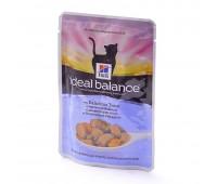 HILL'S Ideal Balance влажный корм для кошек с аппетитной форелью и овощами 85г