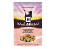 HILL'S Ideal Balance влажный корм для кошек с аппетитным лососем и овощами 85г