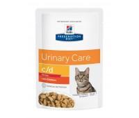 HILL'S PD c/d Multicare Urinary Stress влажный корм для кошек с курицей при стрессе 85 г