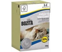 Bozita Funktion Indoor&Sterelised 190г кусочки курицы в желе для домашних и стерилизованных кошек
