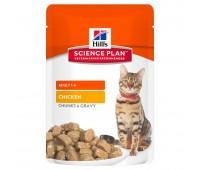 HILL'S Science Plan с курицей для кошек пауч 85г