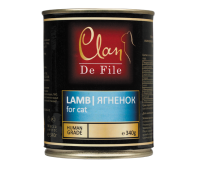 Clan De File консерва для кошек 340г Ягненок