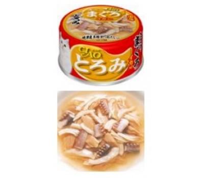Купить CIAO консервы 80г кальмар с мраморной вырезкой тунца